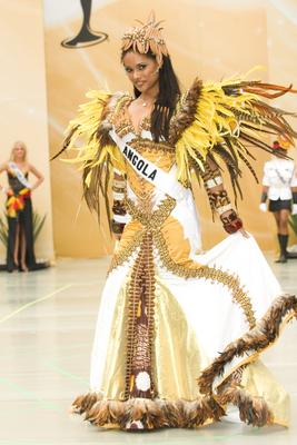 Miss Angola competes at Miss Universe 2007