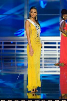 Miss Italy, Valentina Masi, in evening gown