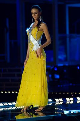 Miss Italy, Valentina Massi, in evening gown