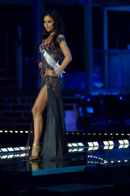 Miss Korea, Honey Lee, in evening gown
