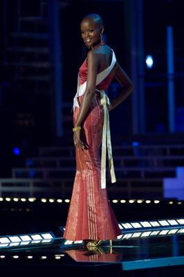 Miss Tanzania Flaviana Matata in eveninggown