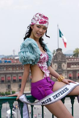 Miss Universe 2007 Riyo Mori in Mexico City