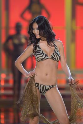 Miss Universe 2007 Riyo Mori in swimsuit