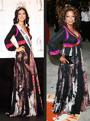 Oprah Winfrey and Miss Universe Riyo Mori