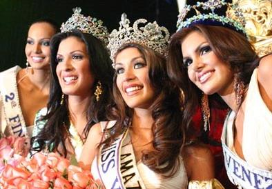 The winners at Miss Venezuela 2007